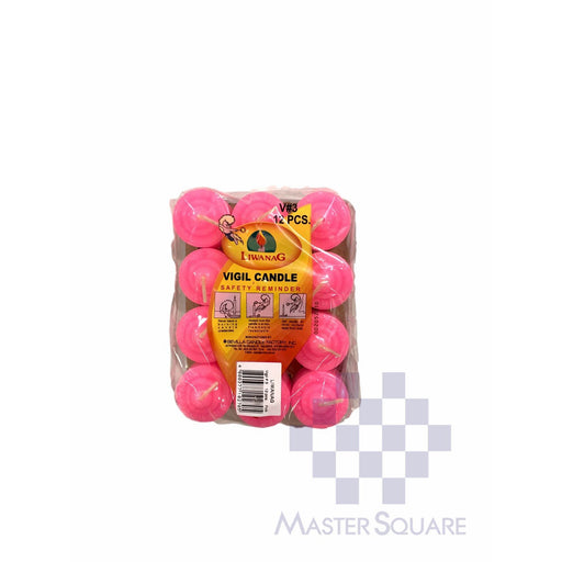 Vigil Candle No. 3 Pack Of 6 Approx. 3.5 X 3.5 Cm-Master Square