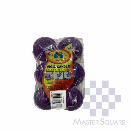 Vigil Candle No. 2 Pack Of 6 Approx. 4.3 X 5.8 Cm-Master Square
