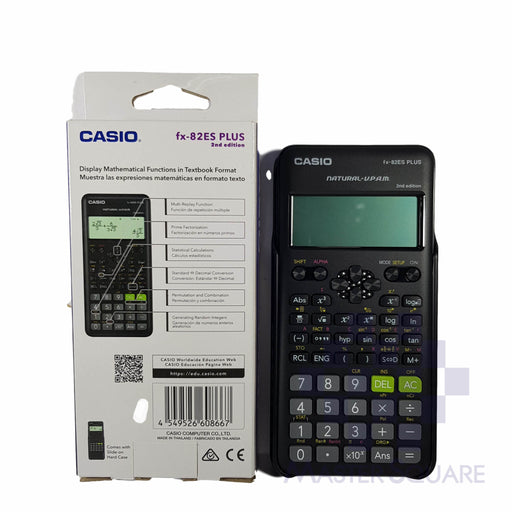 Original Casio Fx-82es Plus 2nd Edition Natural Textbook Display 252 Functions-Master Square