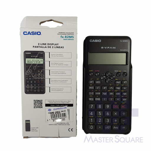 Original Casio Fx-82ms 2nd Edition 2-line Display 240 Functions-Master Square