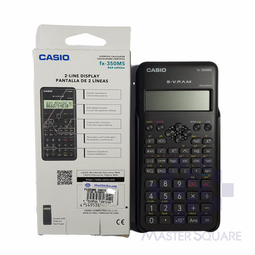 Original Casio Fx-350ms 2nd Edition 2-line Display 240 Functions-Master Square