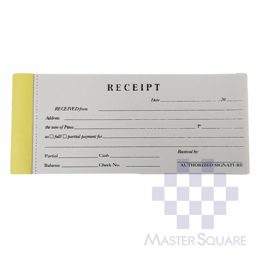 Blank Receipt Approx. 147x70mm-Master Square