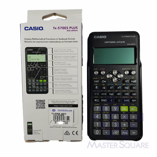 Original Casio Fx-570es Plus 2nd Edition Natural Textbook Display 417 Functions-Master Square