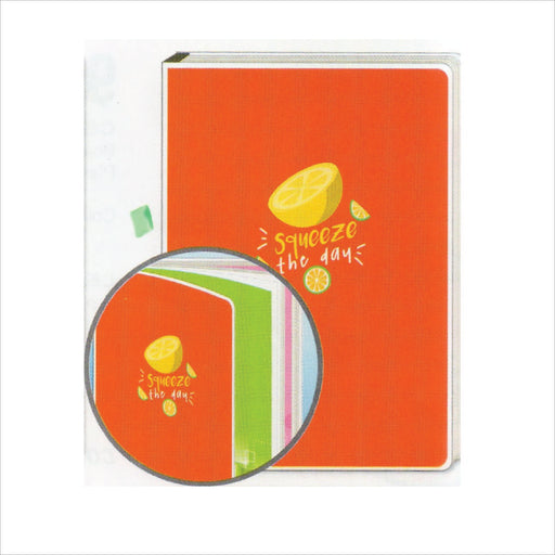 Spring Leaf Clip Binder Notebook 9 Division 5 X 7 In 16 Lvs / Pin Binder 60gsm Sunshine Design 2-Master Square