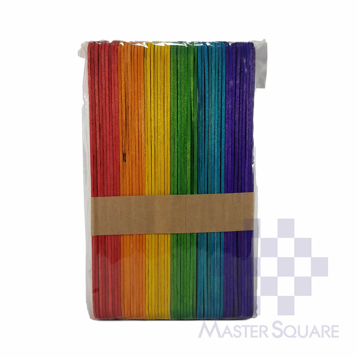 Popsicle Sticks Jumbo Asstd Colors Approx 1.8cm 14.4cm-Master Square