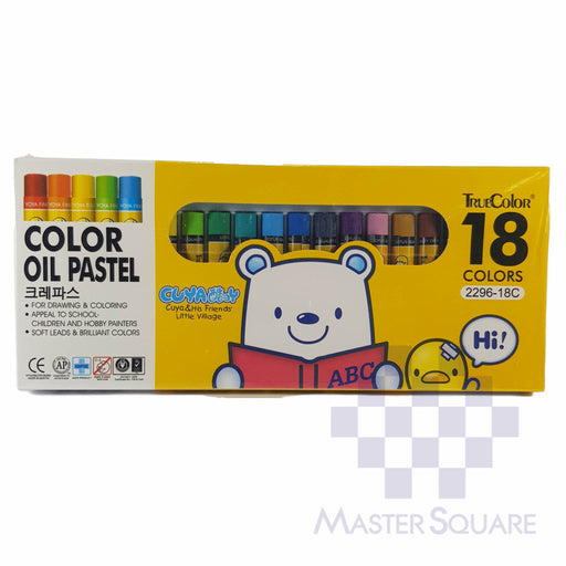 True Color Oil Pastel 18 Colors 2296-18c-Master Square