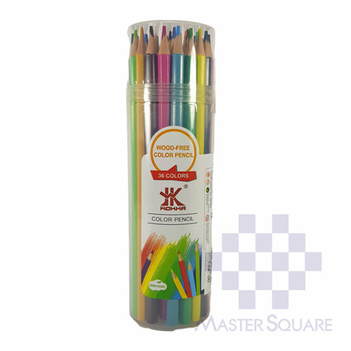 Hokka Color Pencil 36 Colors Wood Free With Tube Case-Master Square