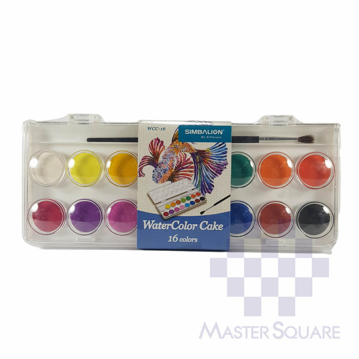 Simbalion Water Color Cake 16 Colors Wcc-16-Master Square