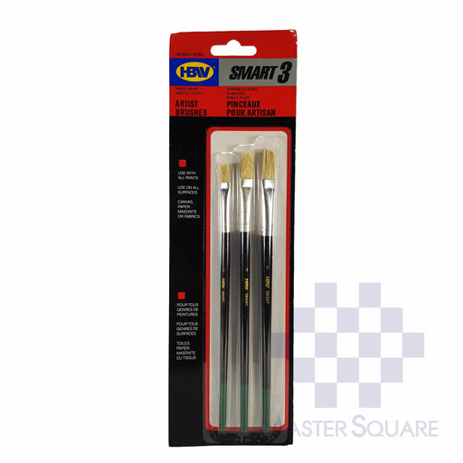 Hbw Artist Brushes Set Of 3 Bch503bc Size 2, 4, 6-Master Square