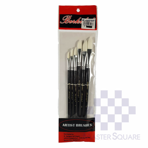 Berkeley Artist Brushes Flat Set Of 6 860kn Size 4, 6, 8, 10, 12-Master Square