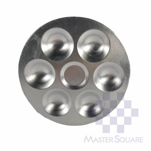 Mixing Plate Aluminum 6 Grooves-Master Square