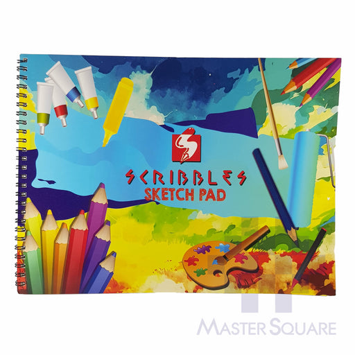Scribbles Sketch Pad 20 Page Approx 9 X 8 In-Master Square