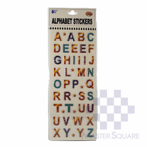 3d Alphabet Stickers Approx 4 X 9 In-Master Square