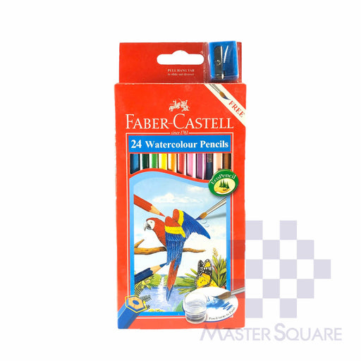 Faber Castell Watercolour Pencils 24 Colors With Sharpener-Master Square