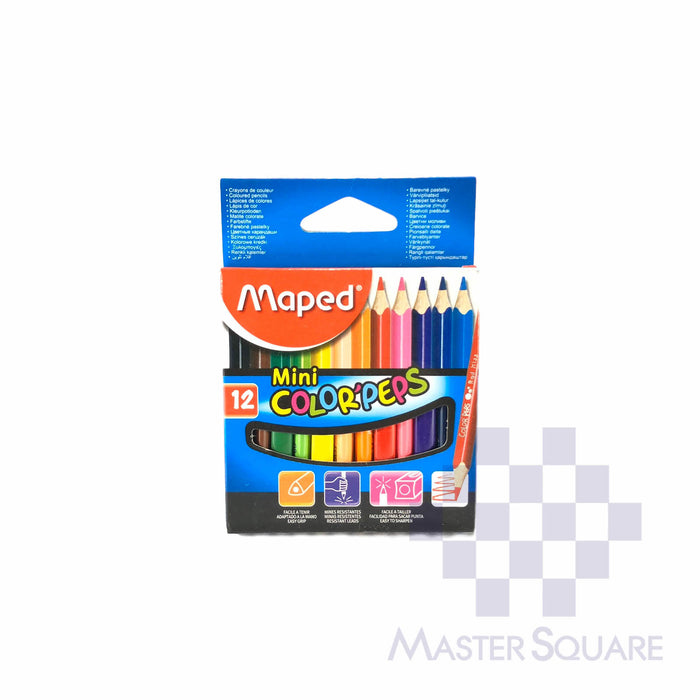 Maped Color' Peps Mini 12 Colors-Master Square