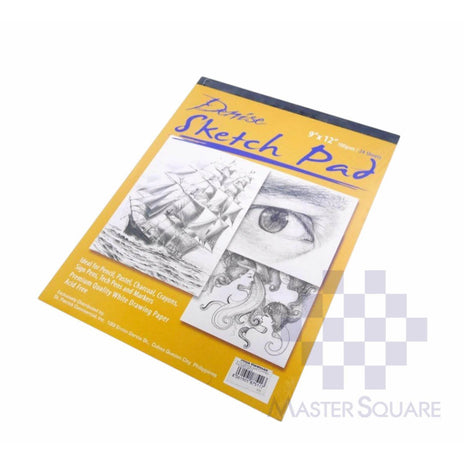 Denise Sketch Pad For Pencil, Pastel, Charcoal, Crayons, Sign Pens, Markers Acid Free Padded 12 X 18 In 100 Gsm 24 Sheets-Master Square
