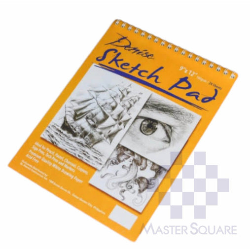 Denise Sketch Pad For Pencil, Pastel, Charcoal, Crayons, Sign Pens, Markers Acid Free Spiral 12 X 18 In 100 Gsm 24 Sheets-Master Square