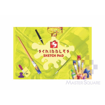 Scribbles Sketch Pad 125gsm 20 Page 6 X 9 In-Master Square
