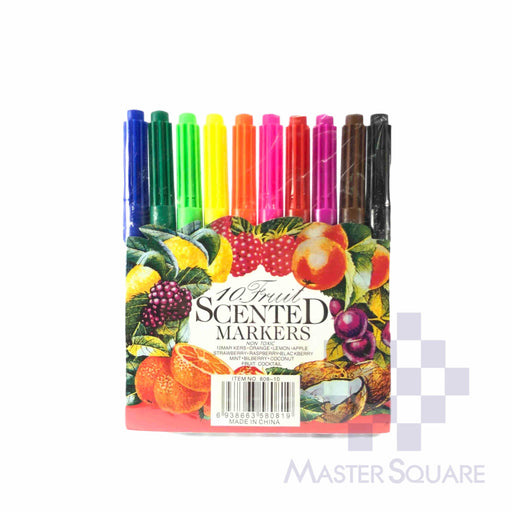 10 Fruit Scented Markers-Master Square