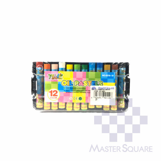 Potato Oil Pastels 12 Colors With Case 210-Master Square