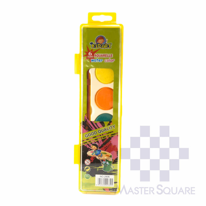 Kid Art Aquarelle Water Color 6 Colors 2806-Master Square