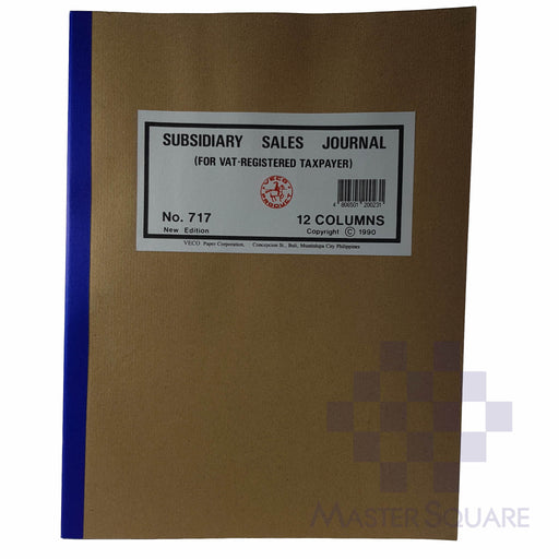 Subsidiary Sales Journal 12 Col-Master Square