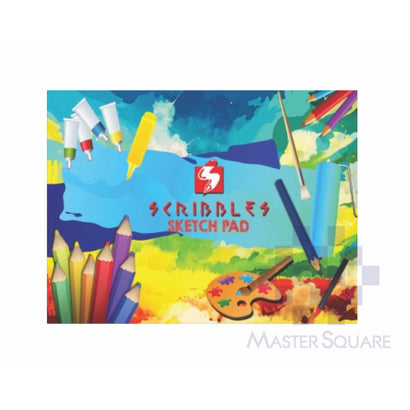 Scribbles Sketch Pad 125gsm 20 Page 9 X 12 In-Master Square