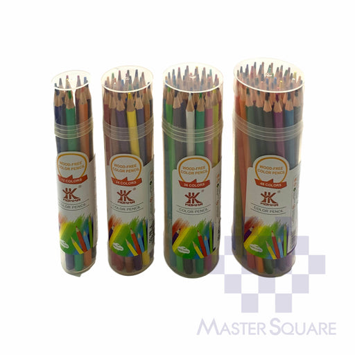 Hokka Color Pencil Wood Free With Tube Case-Master Square