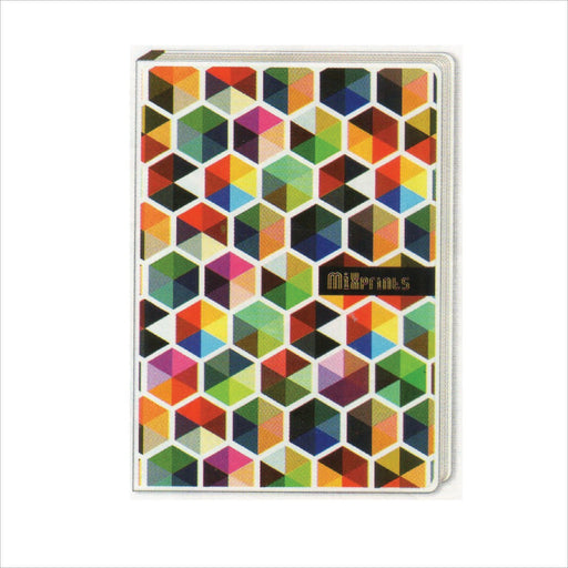 Spring Leaf Clip Binder Notebook 9 Division 5 X 7 In 16 Lvs / Pin Binder 60gsm Mixprints Design 3-Master Square