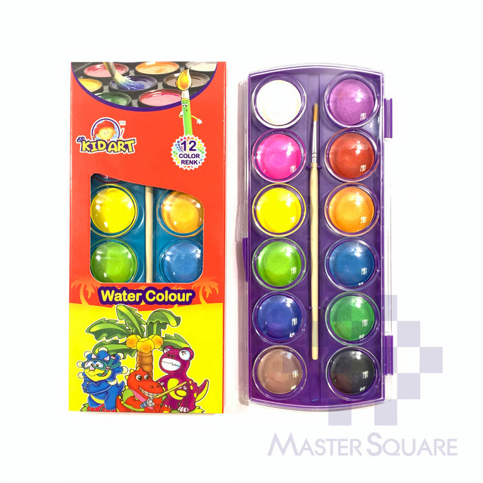 Kidart Water Colour 12 Color 3012-Master Square