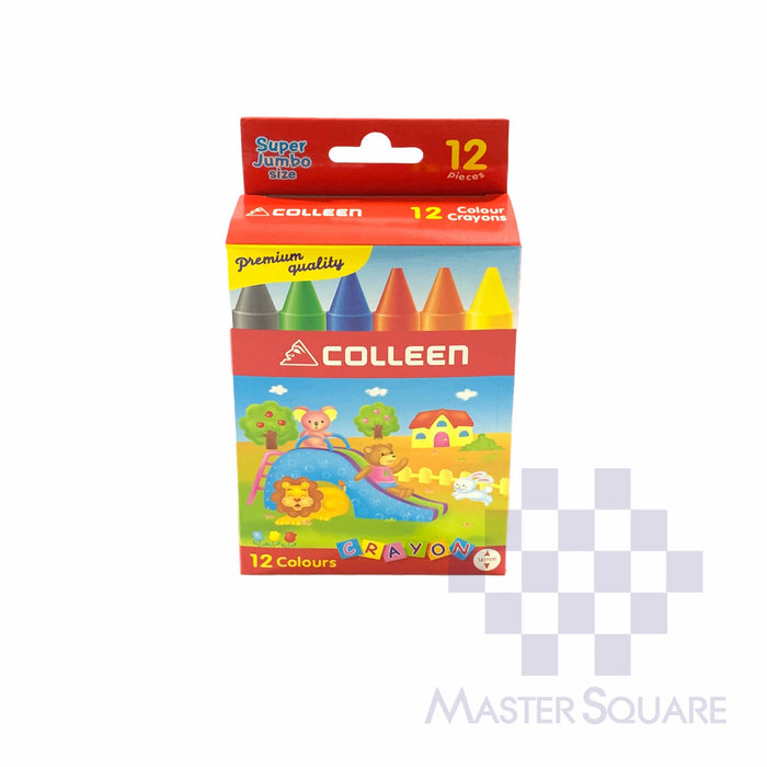 Colleen Super Jumbo Crayons 12 Colors-Master Square
