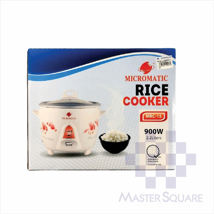 Micromatic Rice Cooker 2.2 Liters Mrc-15-Master Square