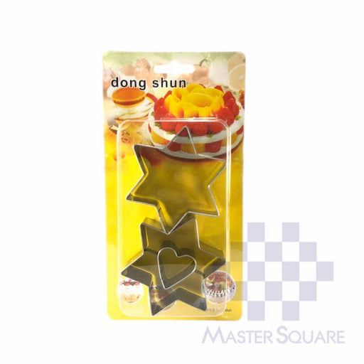 Cookie Cutter Set Of 2 Ds-017c Star Heart-Master Square