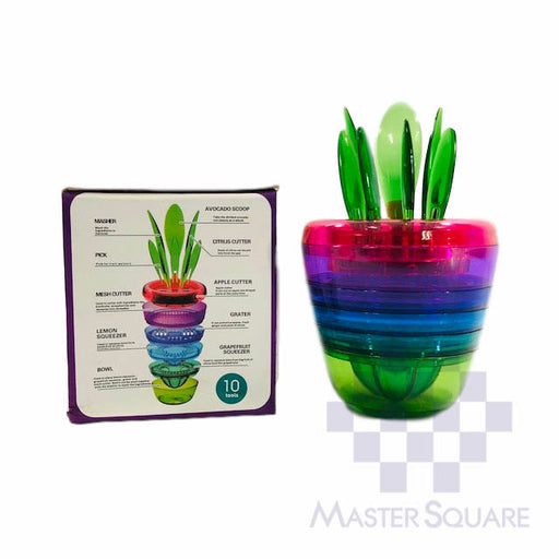 10 In 1 Fruits Plant Kitchen Tool-Master Square