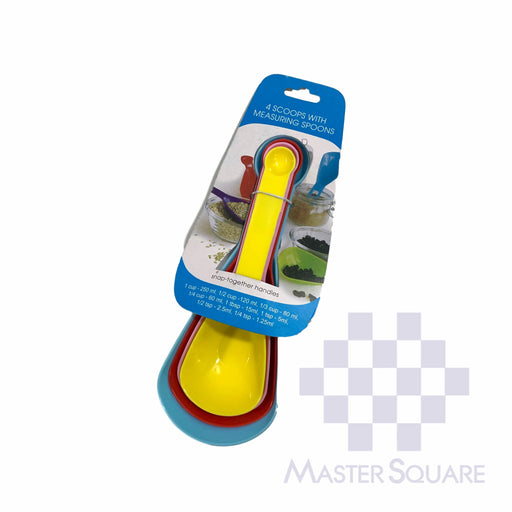 Measuring Spoons With Snap Together Handles Yp401 Set Of 4-Master Square