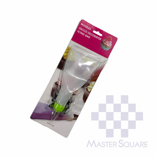 Sacco Cake Decorator With Icing Bag And Nozzles 180248 Set Of 7-Master Square