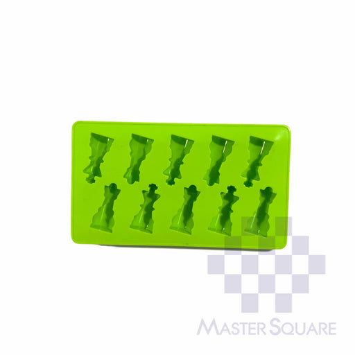 Silicon Cake/ Candy/ Choco Mould 12 X 21 Cm 10-cavity Chess Piece-Master Square