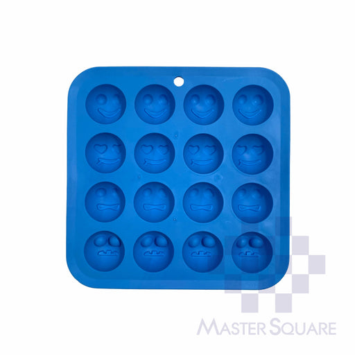 Silicon Cake/ Candy/ Choco Mould 18 X 81 Cm 16-cavity Emoji-Master Square
