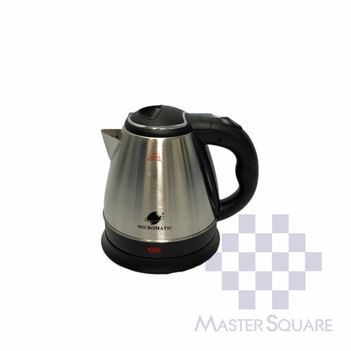 Micromatic Cordless Electric Kettle Mck-1210 1.2 Liter Capacity Black-Master Square