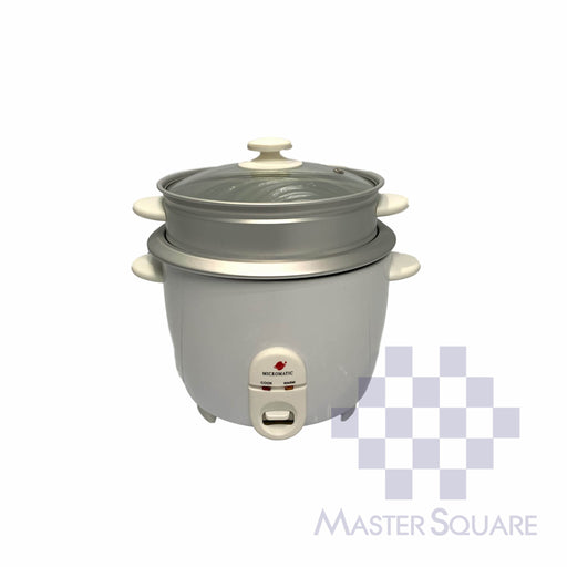 Micromatic Rice Cooker 1.8 Liter Mrc-518 Glass Lid With Steam Rack 10 Cups Of Rice-Master Square