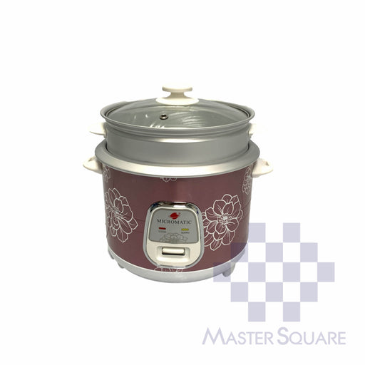 Micromatic Rice Cooker 1.0 Liter Mrc-538d Glass Lid With Steam Rack 5 Cups Of Rice-Master Square