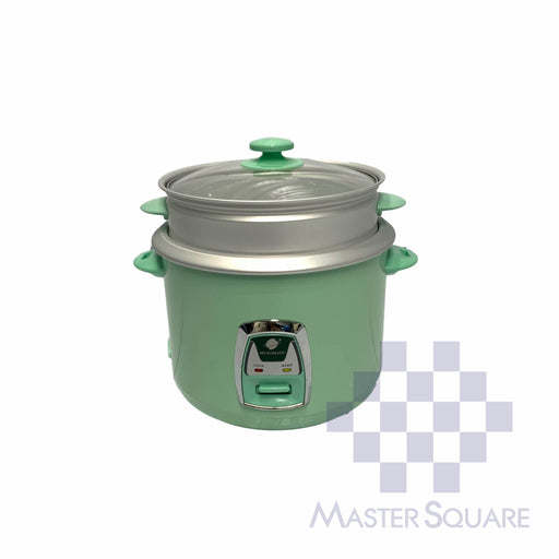 Micromatic Rice Cooker 2.2 Liter Mrc-968d Glass Lid With Steam Rack 15 Cups Of Rice-Master Square