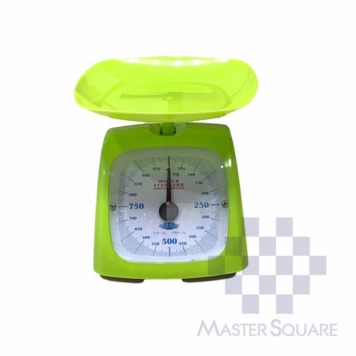 World Standard Kitchen Scale 1 Kg Capacity Apple Green-Master Square