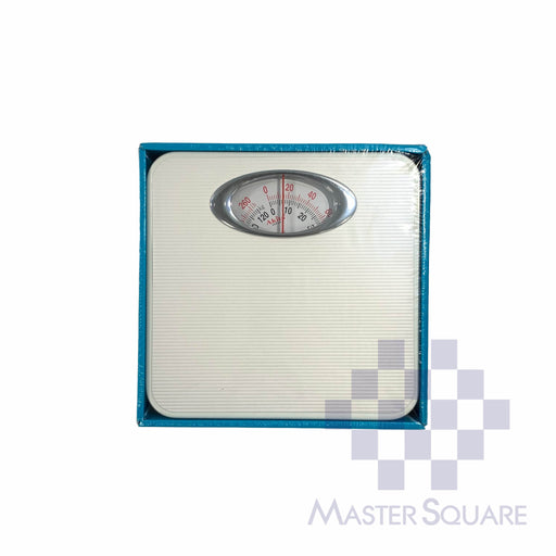 Akita Mechanical Personal Bathroom Scale Br9015b White-Master Square