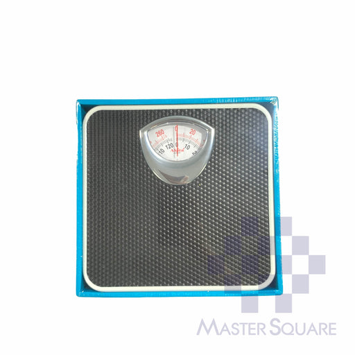 Akita Mechanical Personal Bathroom Scale Br9016b Black-Master Square