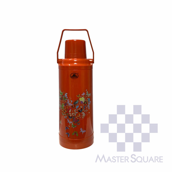 Golden Deer Thermos 977 2.2 Liter Capacity Red Orange-Master Square