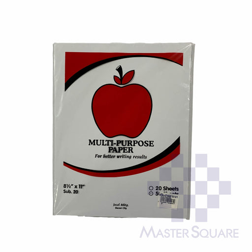 Apple Multi-purpose Paper 8.5 X 11 Sub20 50 Sheets (Max of 2reams/brand per delivery. Please choose another brand if you wish to add more reams to your order)-Master Square