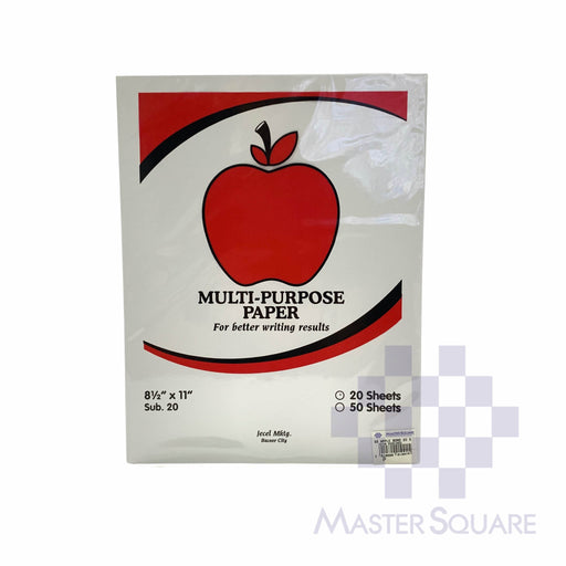 Apple Multi-purpose Paper 8.5 X 11 Sub20 20 Sheets (Max of 2reams/brand per delivery. Please choose another brand if you wish to add more reams to your order)-Master Square