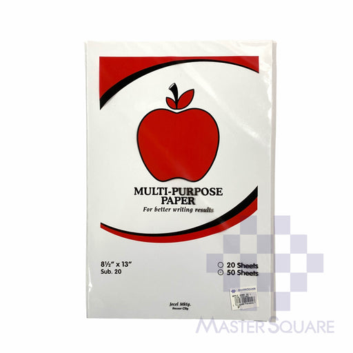 Apple Multi-purpose Paper 8.5 X 13 Sub20 50 Sheets (Max of 2reams/brand per delivery. Please choose another brand if you wish to add more reams to your order)-Master Square