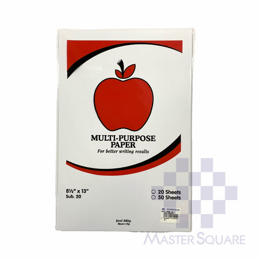 Apple Multi-purpose Paper 8.5 X 13 Sub20 20 Sheets (Max of 2reams/brand per delivery. Please choose another brand if you wish to add more reams to your order)-Master Square